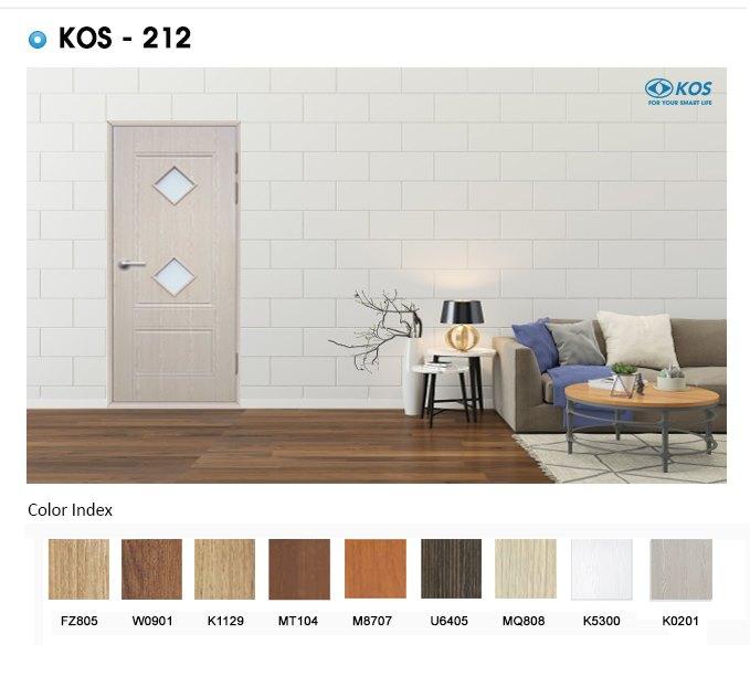 9 tone màu giả gỗ cực sang trọng của cửa nhựa Abs