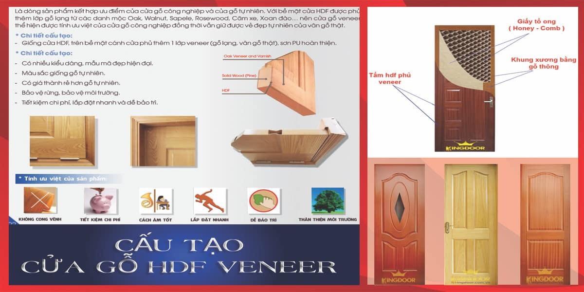 Cửa gỗ công nghiệp HDF veneer tại Bình Thạnh