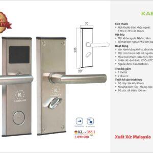 khóa điện tử KL 383I