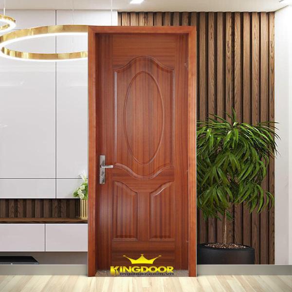 Mẫu cửa gỗ công nghiệp HDF Veneer màu Xoan Đào