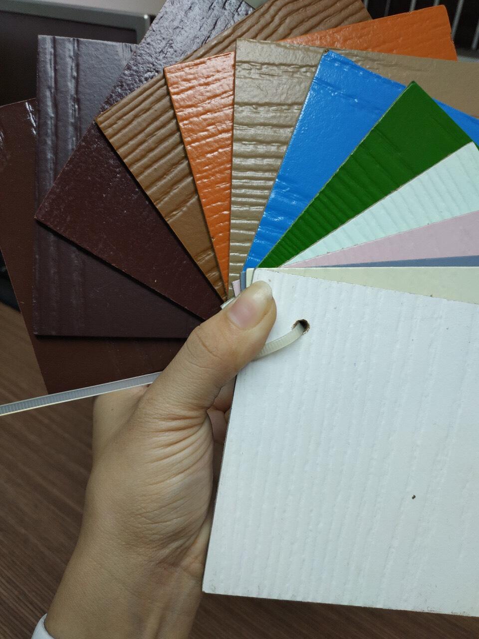 bảng màu cửa gỗ công nghiệp hdf sơn