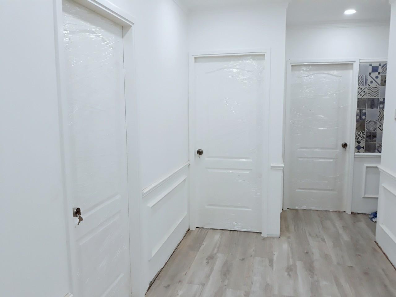 Mẫu cửa nhựa composite sơn PU trắng