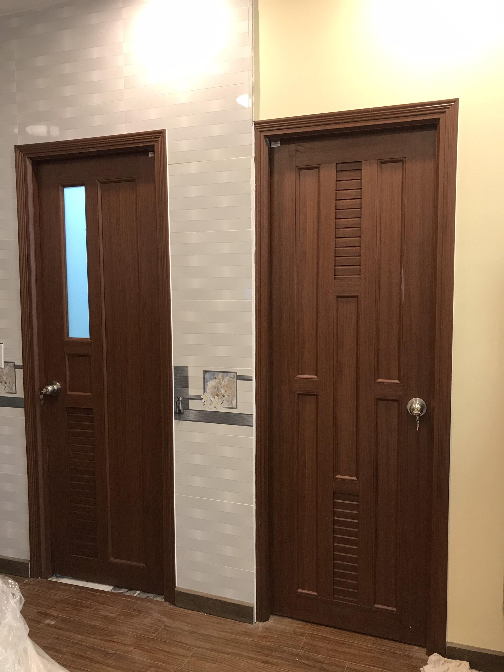cửa nhựa đài loan giả gỗ